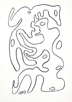 The Movement from the Fire - Original Lithograph by Man Ray - 1965