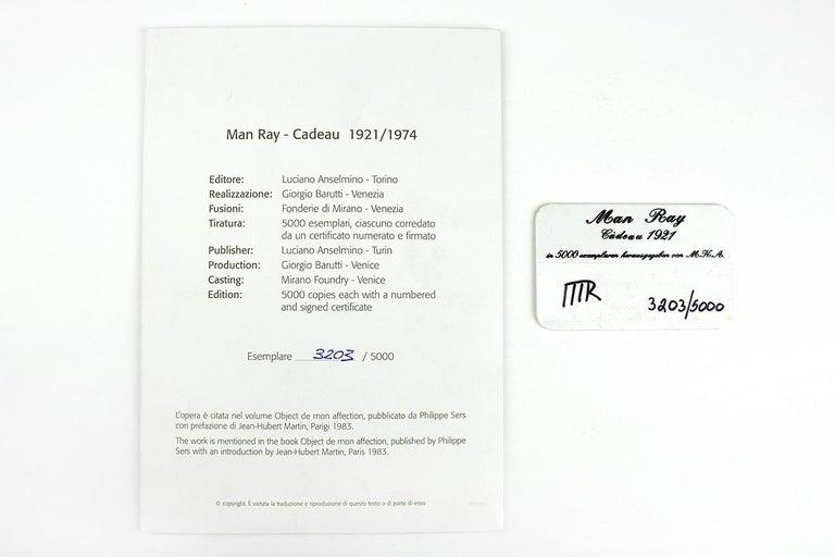 MAN RAY - Cadeau, Limited edition Sculpture - Dada, Surrealist 2
