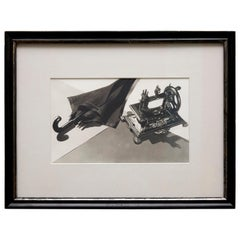 Man Ray Surrealist Framed Black and White Photography 'Hommage a Lautréamont'