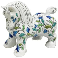 Mancioli Italian Pottery Horse, Figure, Sculpture for Raymor, Florence, 1960s