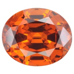 Mandarin Garnet Ring Gem 4.92 Carat Oval