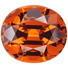 Mandarin Garnet Ring Gem 6.75 Carat Oval