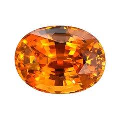 Mandarin Garnet Ring Gem 13.54 Carat GIA Certified Loose Gemstone