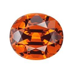 Mandarin Garnet Ring Gem 6.75 Carat Oval Loose Unset Gemstone