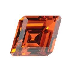 Mandarin Garnet Ring Necklace Gem 2.99 Carat Kite Shape Loose Gemstone