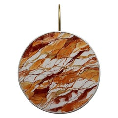 Mandarin Pattern Sconce Lamps Handmade Painting Velvet Natural Brass
