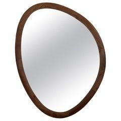 Mandel Mirror with Solid Walnut Frame