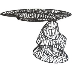 Contemporary Mandet Side Table from recycled metal by Cheick Diallo, 2011