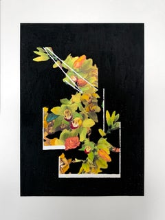 Still Life with Flowers 4, Collage on paper with oil pastels, 42 x 59.4 cm, 2021
