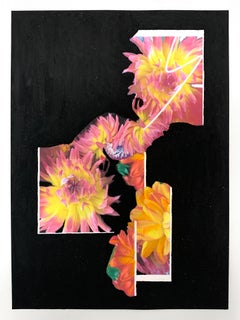 Still Life with Flowers 6, Collage on paper with oil pastels, 42 x 59.4 cm, 2021