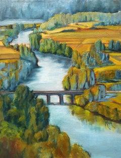 Dordogne River, Oil Painting