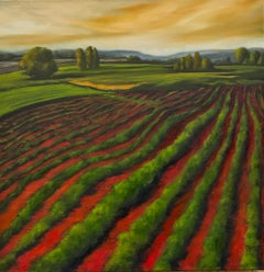 Red Field XX, Oil Painting