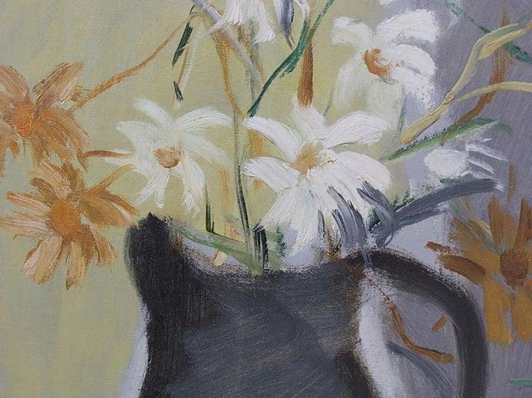 Flowers - Gray Still-Life Painting by Mane Katz