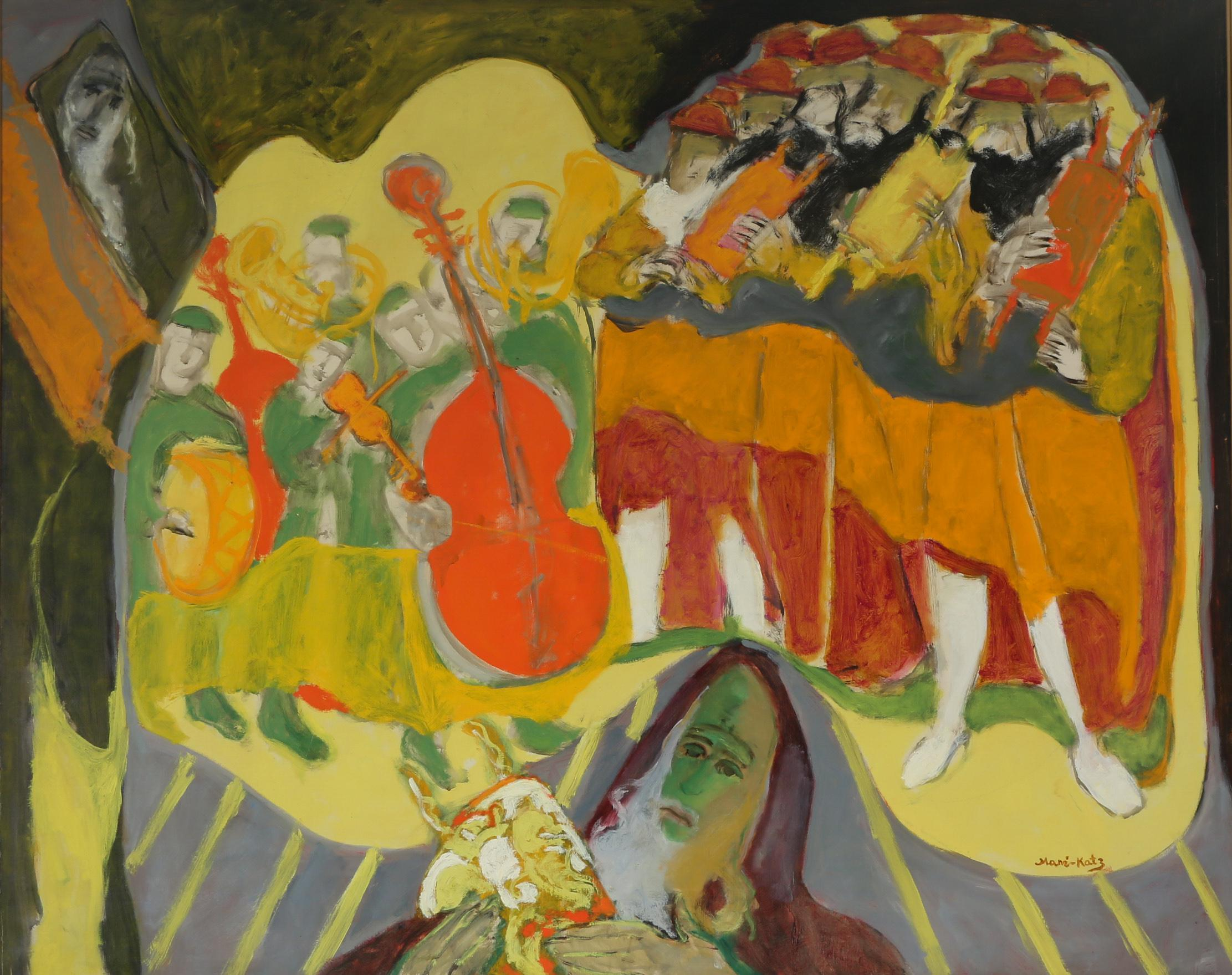 Le Fete, Modern Expressionist Oil on Canvas