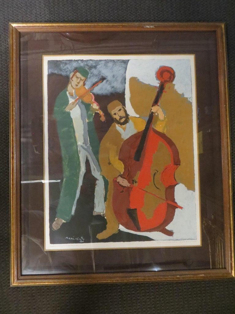 Les Musiciens  - Print by Mane Katz
