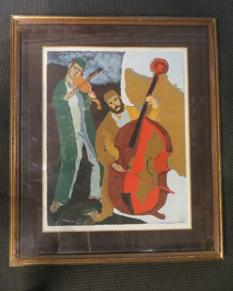 Emmanuel Mané-Katz (Hebrew: מאנה כץ), born Mane Leyzerovich Kats (1894–1962), was a  painter born in Kremenchuk, Ukraine, best known for his depictions of the Jewish shtetl in Eastern Europe.Mark Yale Harris realized his true passion in the