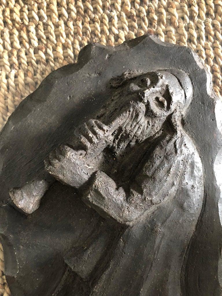 French Painted Maquette for Sculpture Judaica Klezmer Musician  - Gray Figurative Sculpture by Mane Katz