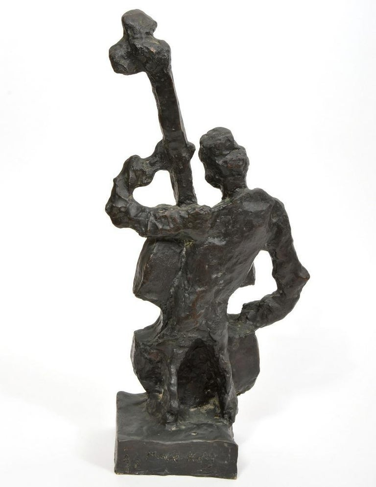 Russian French Judaica Jewish Shtetl Wedding Klezmer Musician Bronze Sculpture For Sale 2