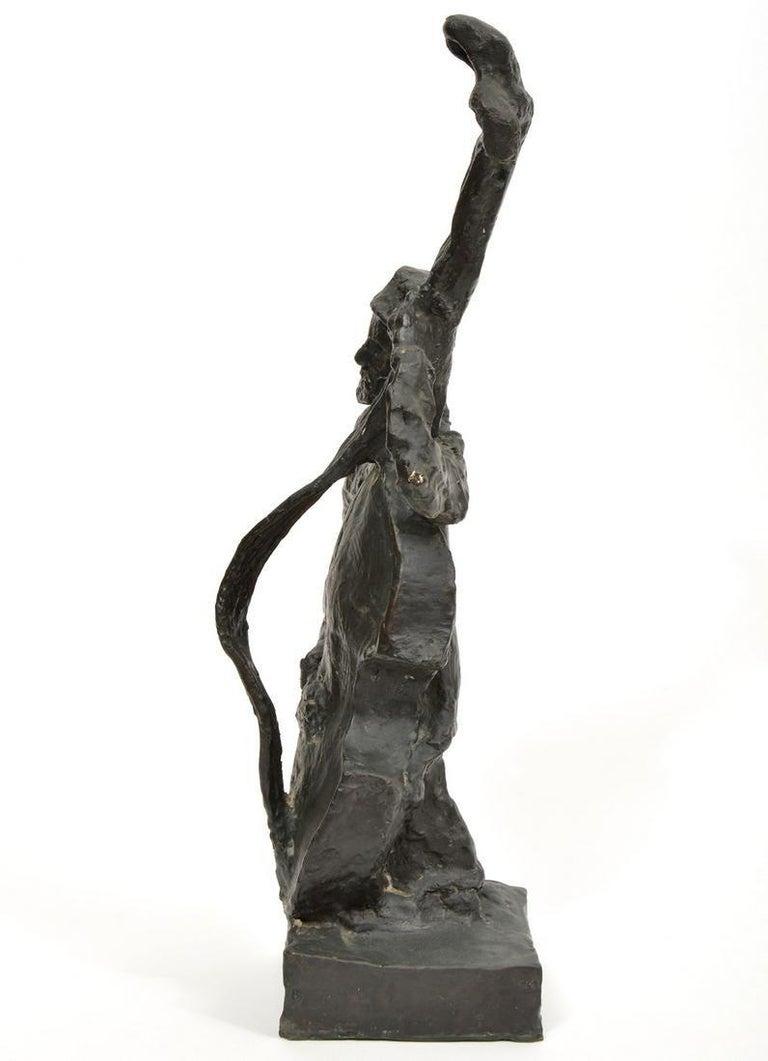 Russian French Judaica Jewish Shtetl Wedding Klezmer Musician Bronze Sculpture For Sale 4