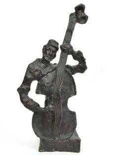Russian French Judaica Jewish Shtetl Wedding Klezmer Musician Bronze Sculpture
