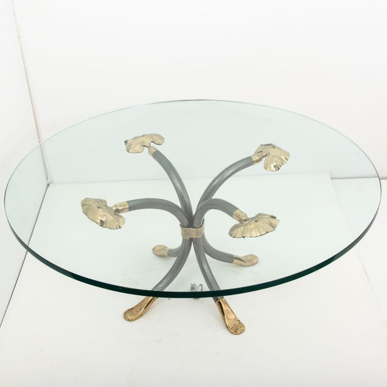 Manfred Bredohl Brass and Iron Coffee Table, Germany, 1970 For Sale 3