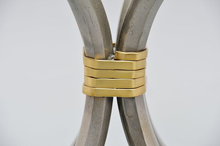 Manfred Bredohl Brass and Iron Coffee Table, Germany, 1970 For Sale 4