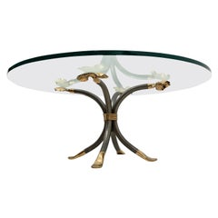 Manfred Bredohl Brass and Iron Coffee Table, Germany, 1970