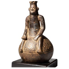 Mangbetu People, DRC Fine Anthromorphic Figural Terracotta Vessel