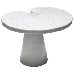 Mangiarotti Carrara Marble Side Table 'Eros series' for Skipper