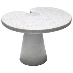 Mangiarotti Carrara Marble Side Table 'Eros series' for Skipper