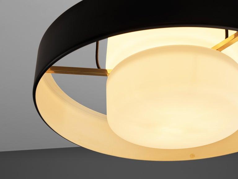 Mangiarotti 'Eros' Marble Table with Bozzi 'Ariston' Chairs and Stilnovo Lamp For Sale 6