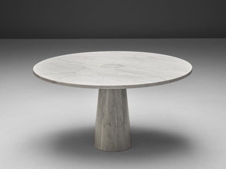 Mid-Century Modern Mangiarotti 'Eros' Marble Table with Bozzi 'Ariston' Chairs and Stilnovo Lamp For Sale