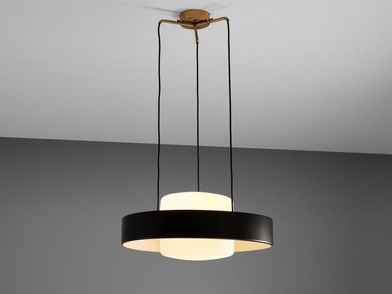 Mangiarotti 'Eros' Marble Table with Bozzi 'Ariston' Chairs and Stilnovo Lamp For Sale 1