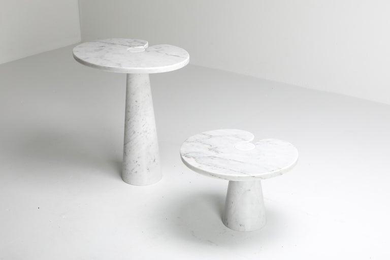 Mangiarotti White Carrara 'Eros' Marble Side Table for Skipper, Italy For Sale 3
