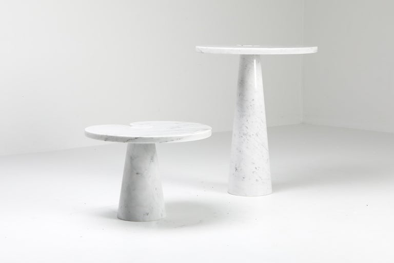 Mangiarotti White Carrara 'Eros' Marble Side Table for Skipper, Italy For Sale 4