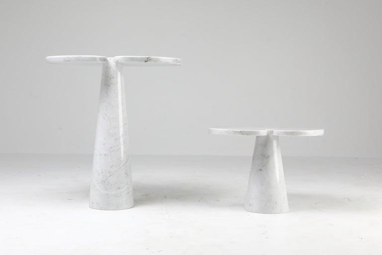 Mangiarotti White Carrara 'Eros' Marble Side Table for Skipper, Italy For Sale 5