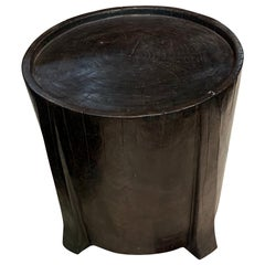Mango Wood Ebonized Side Table, Indonesia, Contemporary