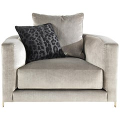 Manhattan Armchair in Fabric by Roberto Cavalli Home Interiors