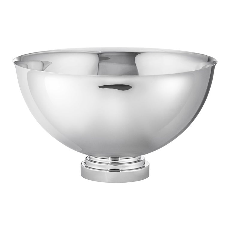Manhattan Champagne Bowl in Stainless Steel by Georg Jensen For Sale