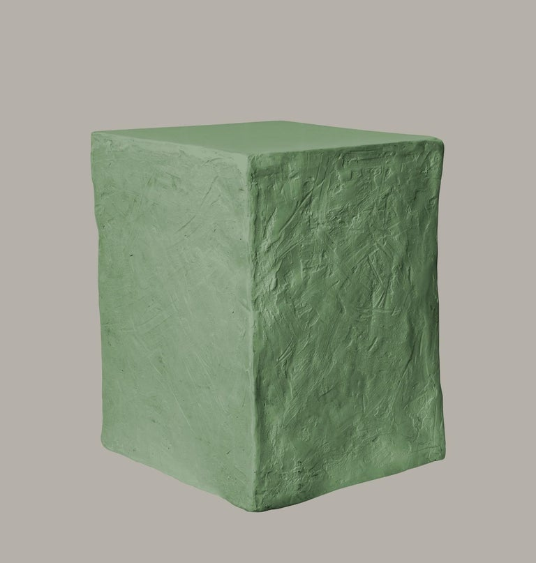 Patinated Manhattan Cube Side Table/ Stool, 21st Century by Margit Wittig For Sale