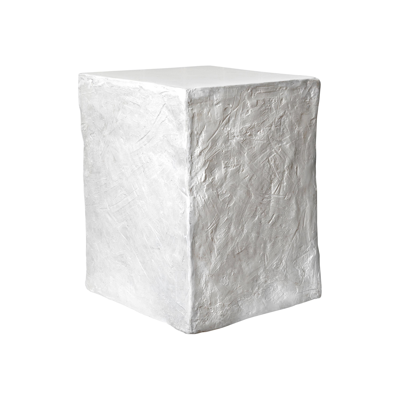 Manhattan Cube Side Table/ Stool, white, European, 21st Century by Margit Wittig