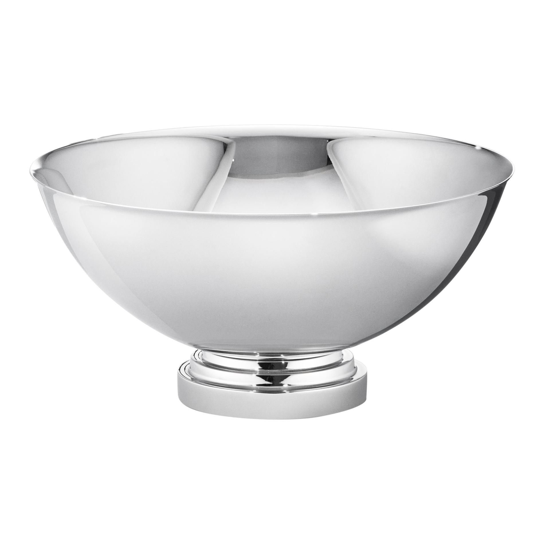 Manhattan Medium Bowl in Stainless Steel by Georg Jensen