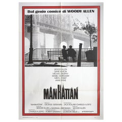 'Manhattan' R1980s Italian Due Fogli Film Poster