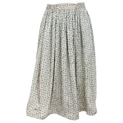 Mani by Armani Gray Viscose Wallet Rigid Floral Flared Skirt