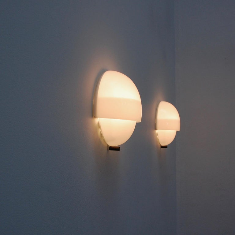 (6) Mania Sconces in Glass by Vico Magistretti for Artemide For Sale 4