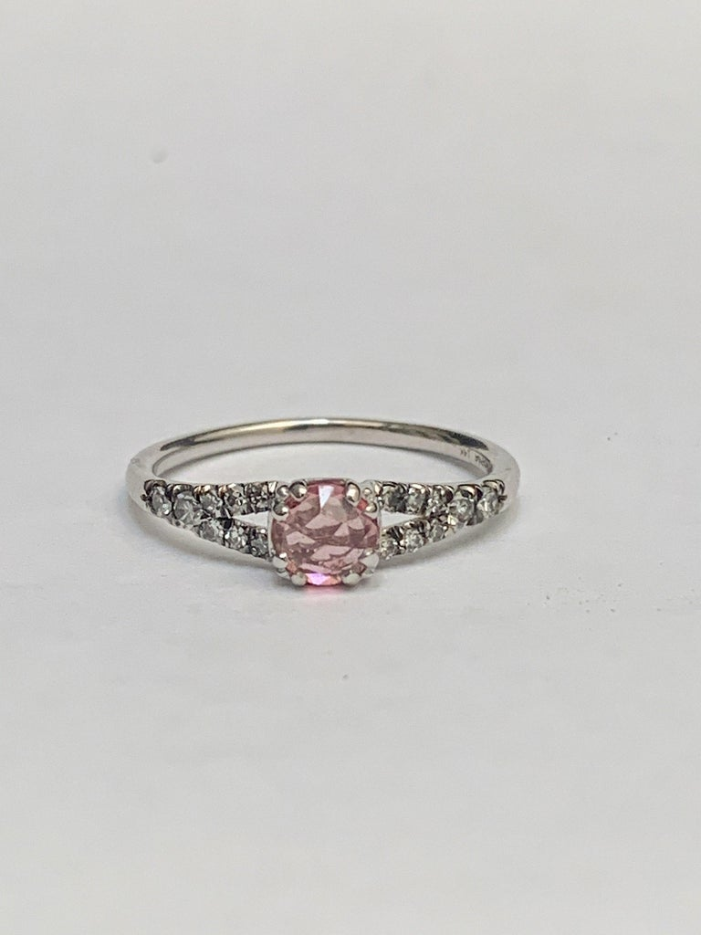Rose Cut Maniamania Devotion Engagement Ring 14 Karat Gold with Tourmaline and Diamonds For Sale