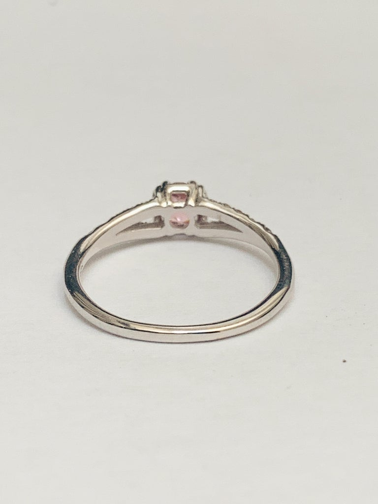 Maniamania Devotion Engagement Ring 14 Karat Gold with Tourmaline and Diamonds In New Condition For Sale In New York, NY