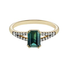 Maniamania Eternal Ring in 14 Karat Gold with Bicolor Sapphire and Diamonds