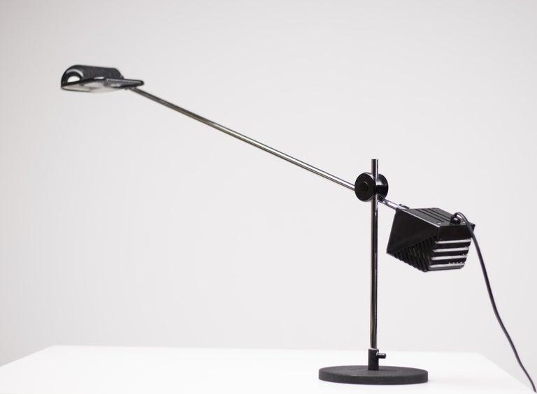 Maniglia table lamp designed by De Pas, Lomazzi and D'Urbino for Stilnovo. Marked.