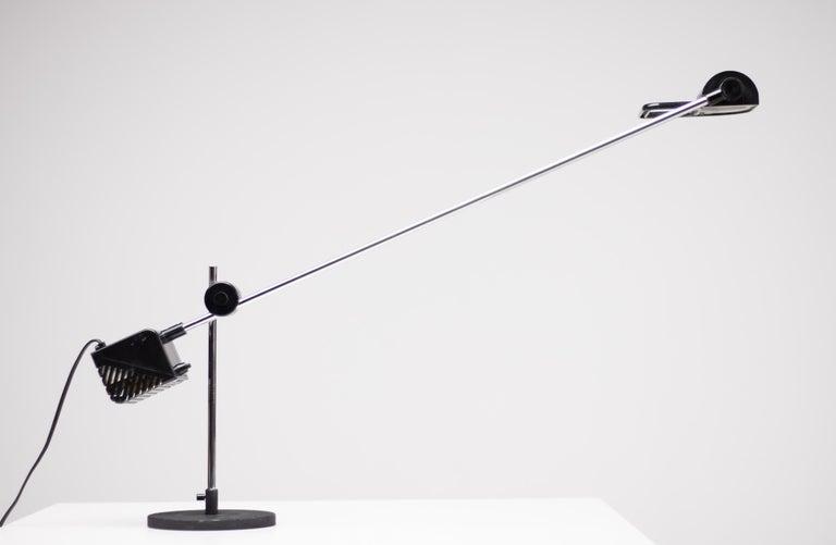 Chrome Maniglia Desk Lamp by Stilnovo For Sale